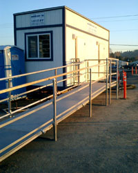 temporary commercial wheelchair ramp